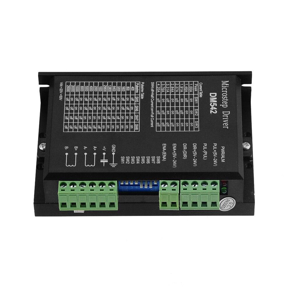 وحدة تحكم المحرك الخطوي ، DM542 ، 2 مرحلة رقمية, 18-48 VDC Max. 4.2A لسلسلة محركات 57 86