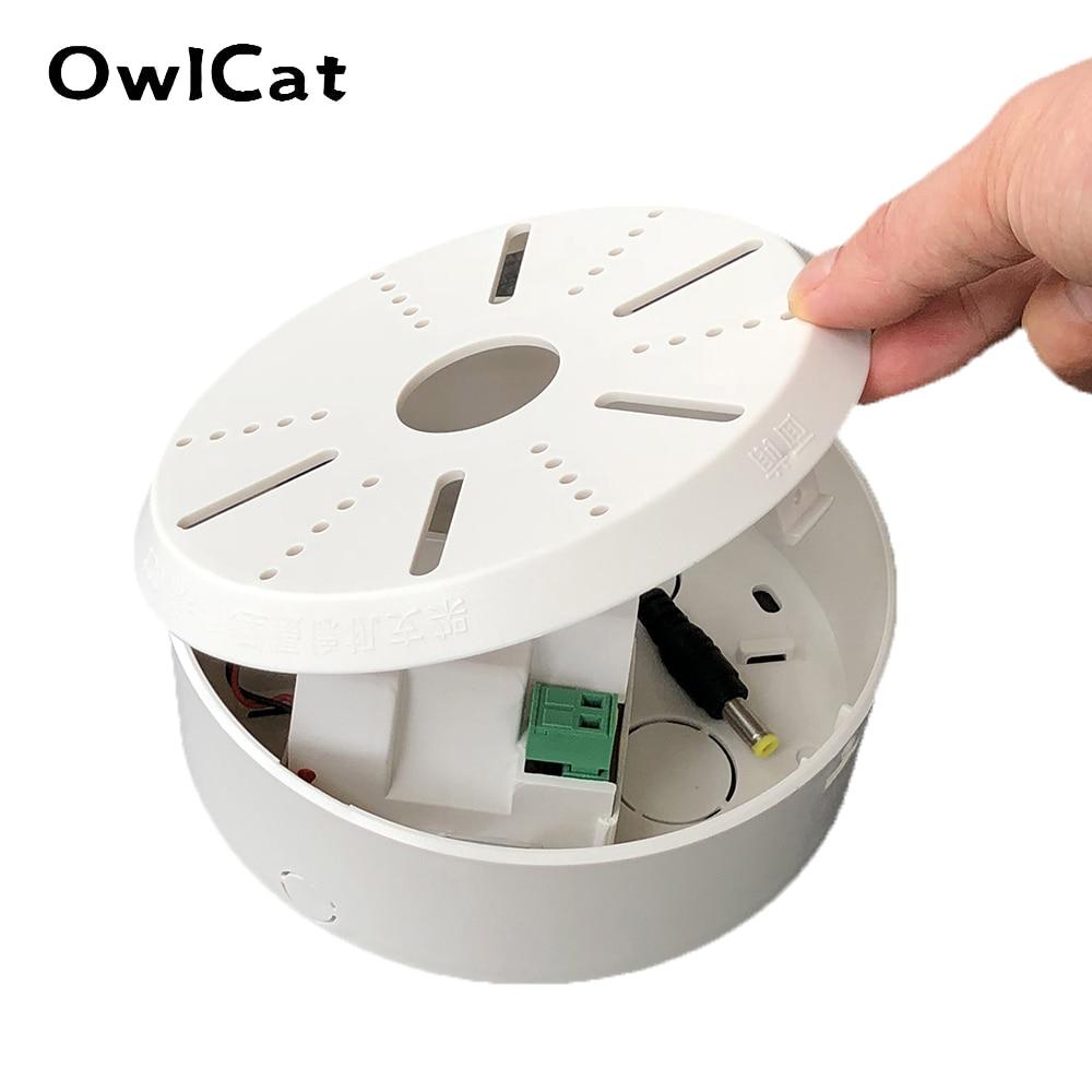 Owlcat cctv câmera dome de vigilância vídeo suporte montagem no teto com adaptador alimentação dc12v2a