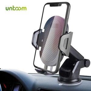 Автомобильный держатель для телефона Untoom на лобовое стекло, вращение на 360 градусов, Автомобильный держатель для телефона для iPhone Xs Max Xr X, держатель приборной панели телефона для samsung