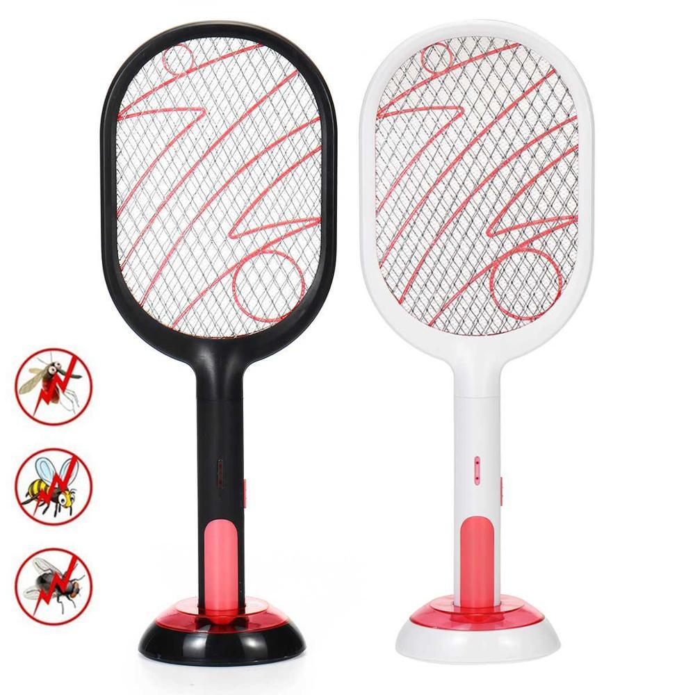Matamoscas eléctrico para el hogar, Exterminador de insectos recargable por USB de...