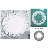 round heart background border metal cutting scrapbook mold making greeting card craft 2021 new christmas diy art paper cutting
