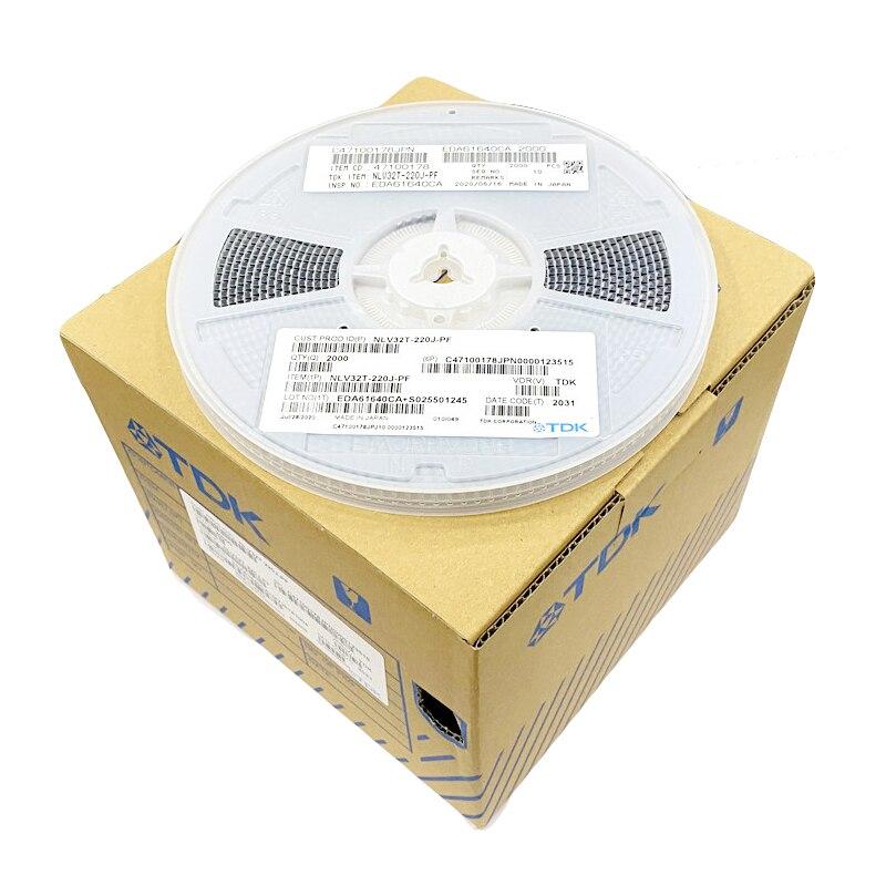 100 peças de NLV25T-330J-PF 2520 1008 33uh 110ma smd plástico blindado fio ferida indutor