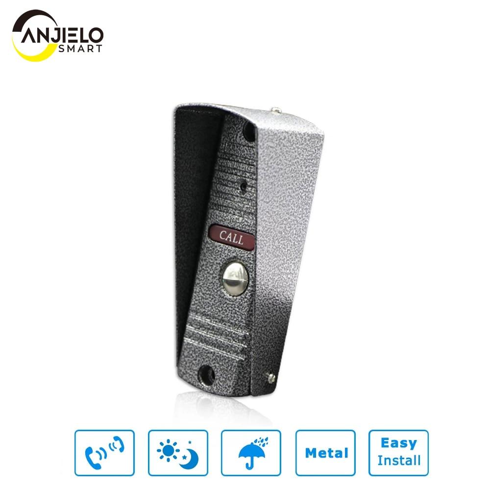 Anjiplastic mart واحد فيديو باب الجرس الأشعة تحت الحمراء عالية الدقة باب الهاتف IP65 مقاوم للماء
