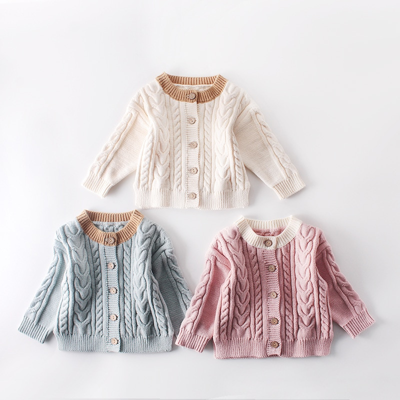 Baby Girls Sweater Jackets Winter Plush Knitted Coat For Newborns INS Hot Style Infant Sweater Top G