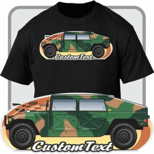 Camiseta Humvee H1 HMMV M1036 US ejército nacional guardia militar Hummer