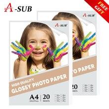 20 feuilles A4 papier Photo impression brillante pour imprimante à jet dencre photographe imagerie papier dimpression