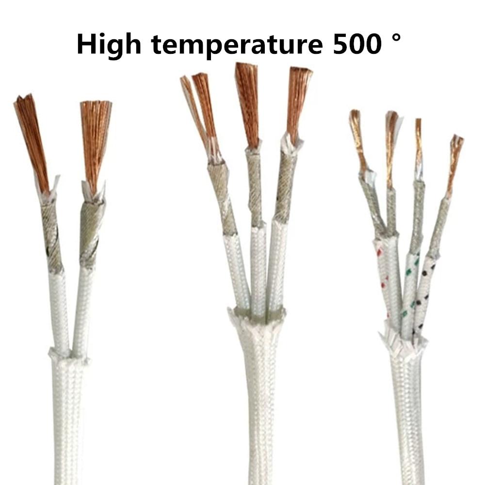 Cable de alta temperatura de 500 °, cable trenzado de mica resistente...