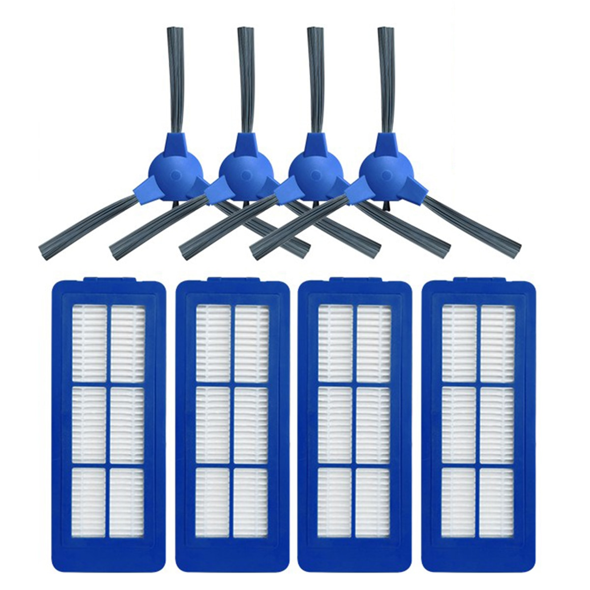 4 Pcs Filter Side Brush Kit Set Mixed Parts Replacement Accessories For Eufy Robovac G10 hybrid Vacuum Cleaner