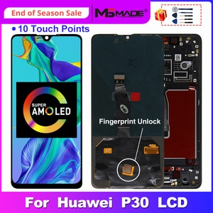 SUPER AMOLED For HUAWEI P30 LCD ELE-L29 ELE-L09 ELE-AL00 Display Touch Screen Digitizer Replacement Parts For Huawei P30 Screen