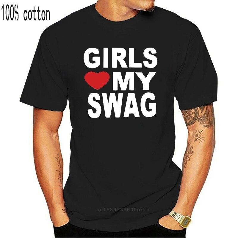 Meninas amor meu swag t-shirts masculinas camisas masculinas manga curta tendência roupas t camisa presente mais tamanho e cores