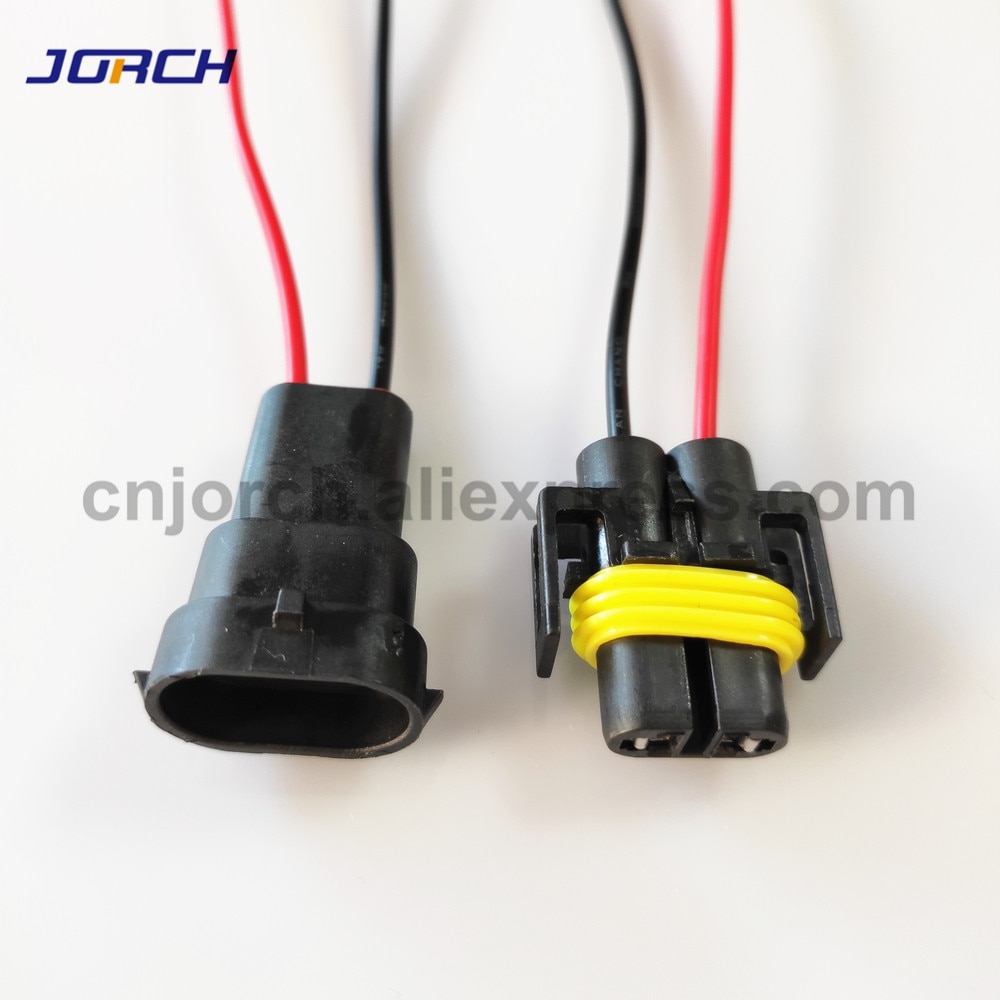1set 2 pin H8 H11 Adapter Wiring Harness Car Auto Wire Connector with 20cm cable For HID LED Headlig