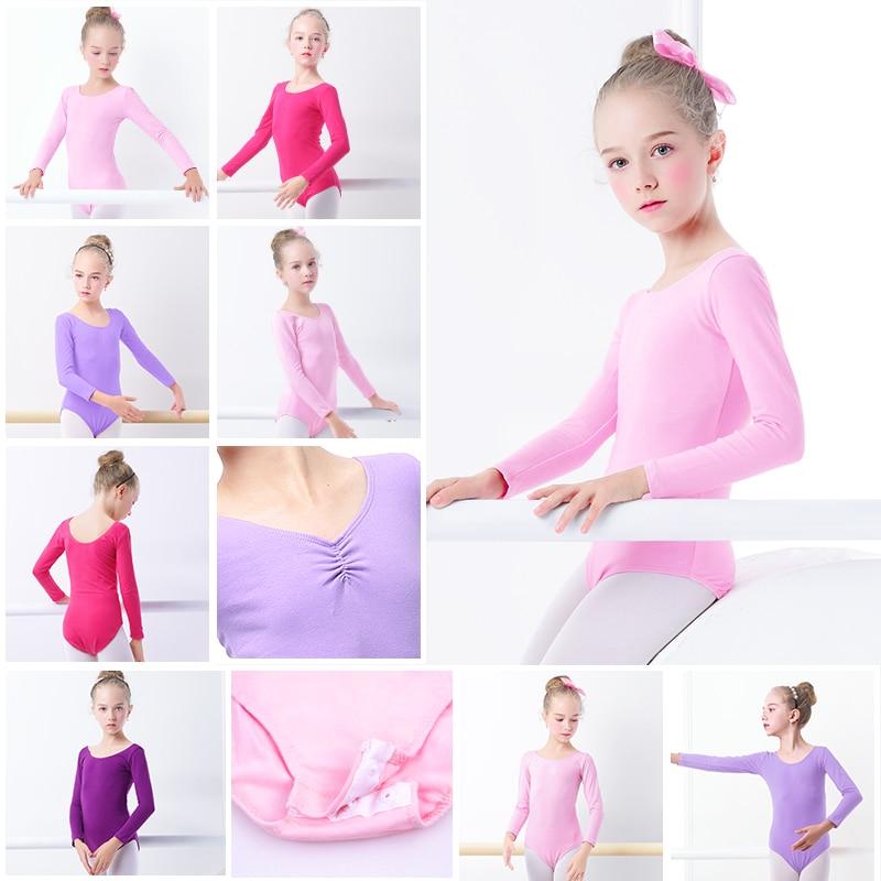 Girls Bodysuit Kids Leotard Gymnastics Dance Bodysuit Dance Clothing Dancewear Costumes Toddler Cotton Dance Leotard