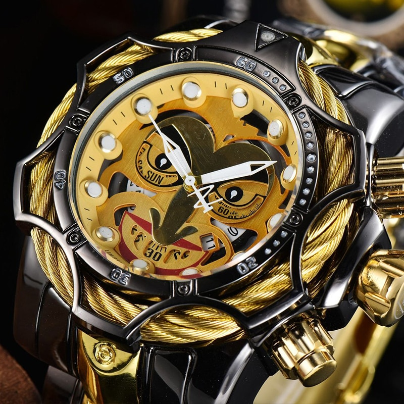 2021 new mens high-end quartz watch invicta large dial AAA high-quality stainless steel chronograph luminous calendar