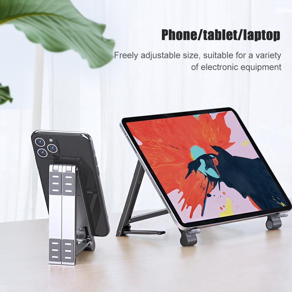حامل ألومنيوم لأجهزة الكمبيوتر المحمول macbook ، سطح مكتب قابل للطي ، ملحقات كمبيوتر ipad
