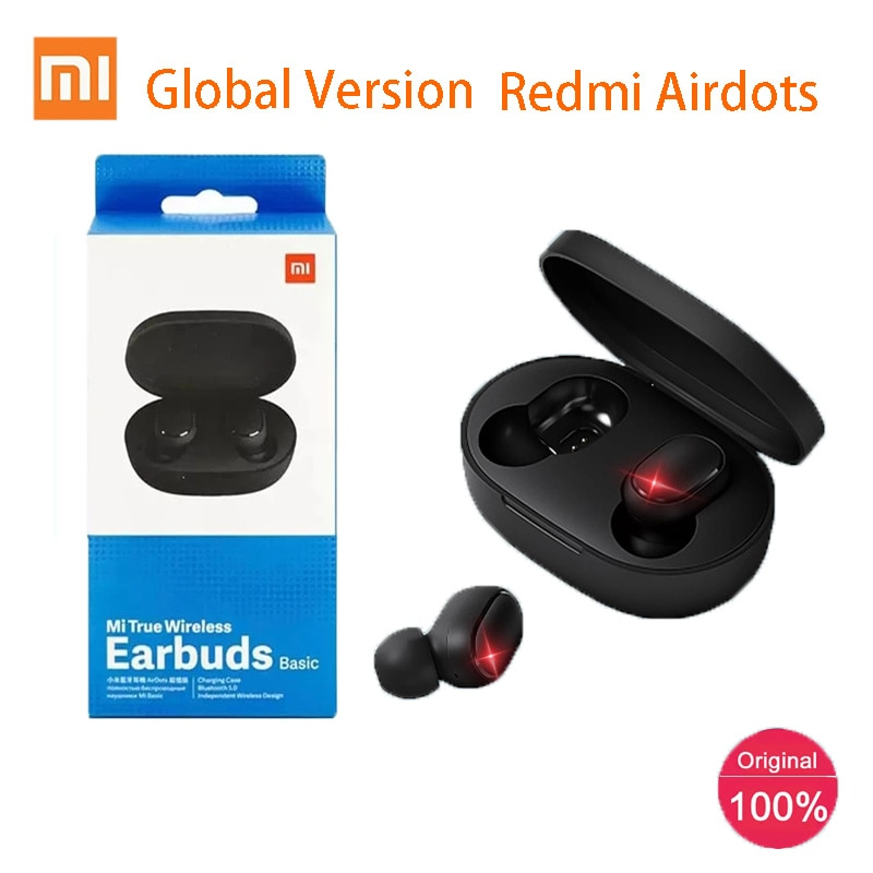 Global Version Xiaomi Redmi Airdots Mi True Wireless Bluetooth 5.0 Headphone Stereo Microphone Hands Free Redmi Airdots Headset