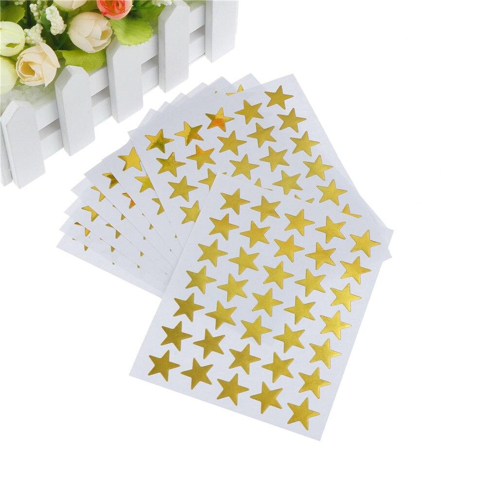 Pegatina de estrella encantadora, etiqueta para Profesor, Premio para niños, chico regalo de los estudiantes oro plata bronce papelería 10 Uds