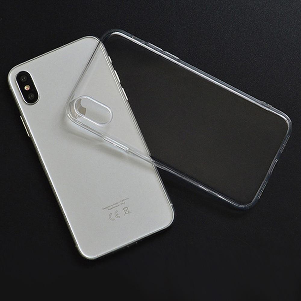 Funda de teléfono de 100 piezas para iPh 7/8 XR XS smax Coque transparente suave TPU funda trasera de silicona para Fundas