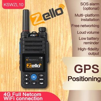 KSUN ZL10 Network Transceiver Zello Walkie Talkie Long Range 4G GPS WIFI Mobile Ham Radio Amateur Android Walkie Talkie 100km