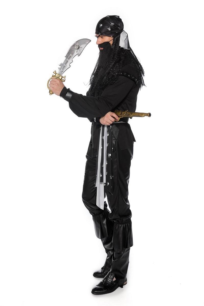 Nuevo disfraz de capitán pirata de Carnaval de Halloween, disfraz de pirata de un ojo