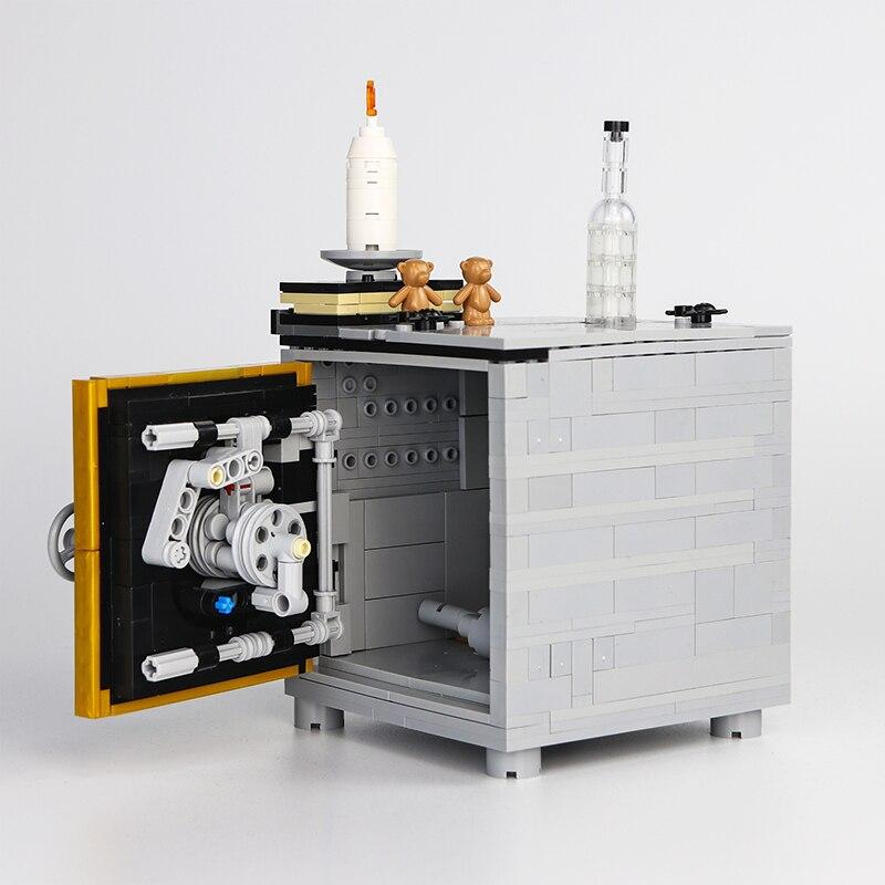 MOC سترونغبوكس اللبنات الجسيمات الصغيرة وحدات القهوة الصلب كتلة آمنة نموذج الإبداع لعب للأطفال هدية عيد ميلاد