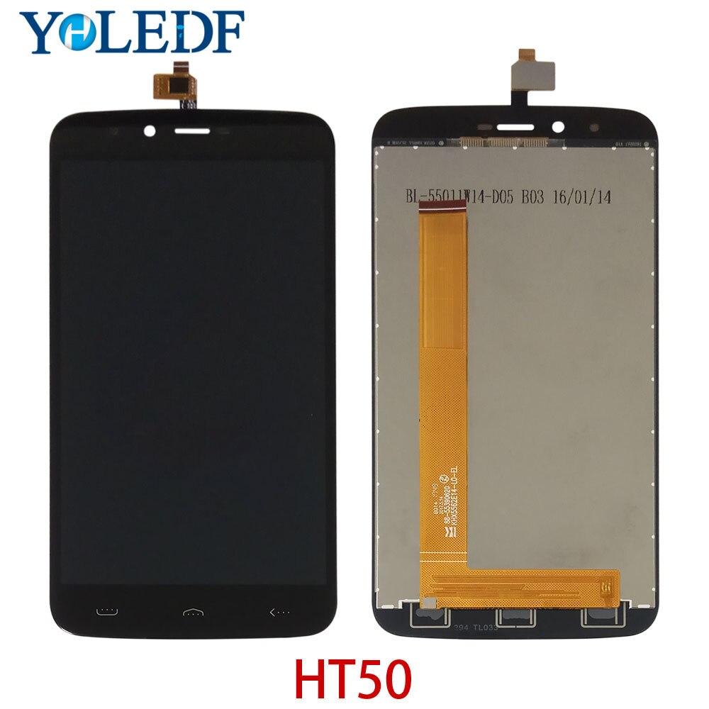 """Pantalla LCD de 5,5 """"100% probado para Homtom HT50 Pantalla táctil ensamblaje de digitalizador HT50 monitor LCD reemplazo del sensor de cristal Pantalla"""