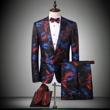 With Mens Suits Pants Groom Suit Singer Jacket Important Party Single Button Slim Fit Tuxedos Dress