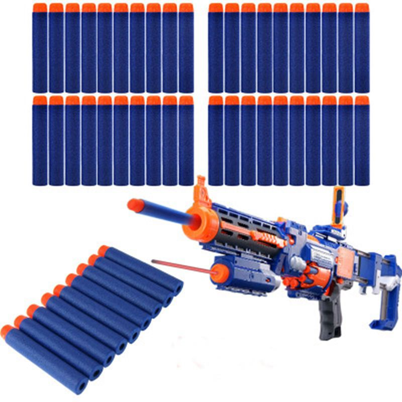 100PCS Nerf Bullets Soft Hollow Hole Head 7.2cm Refill Darts Toy Gun Bullets for Nerf Series Blasters Xmas Kid Children Gift