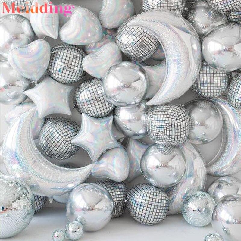 Bola de helio para discoteca, globos metálicos decorativos para fiestas de baile, fiesta Popular para adultos, cumpleaños, bodas, decoración de fiestas espaciales