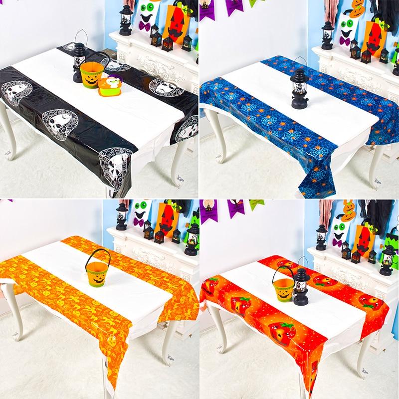 Mantel desechable de pvc para mesa de Halloween, cubierta de decoración de...