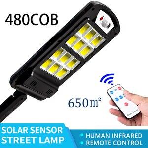 480COB Super Bright Solar LED Light Outdoor With Remote Control Waterproof Wireless Sensor PIR Motion Street Garden Solar Lamp