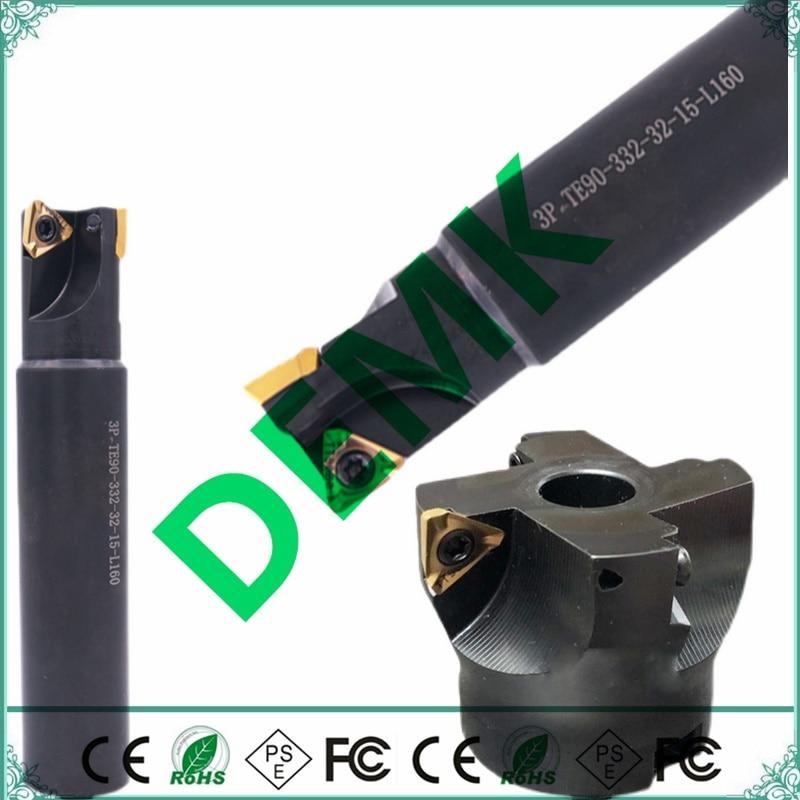 3P TF90 50 63 80 100 مللي متر ل الأصلي 3PKT150508R سريع تغذية 90 درجة الوجه قاطعة المطحنة CNC الوجه قاطعة المطحنة 3PKT