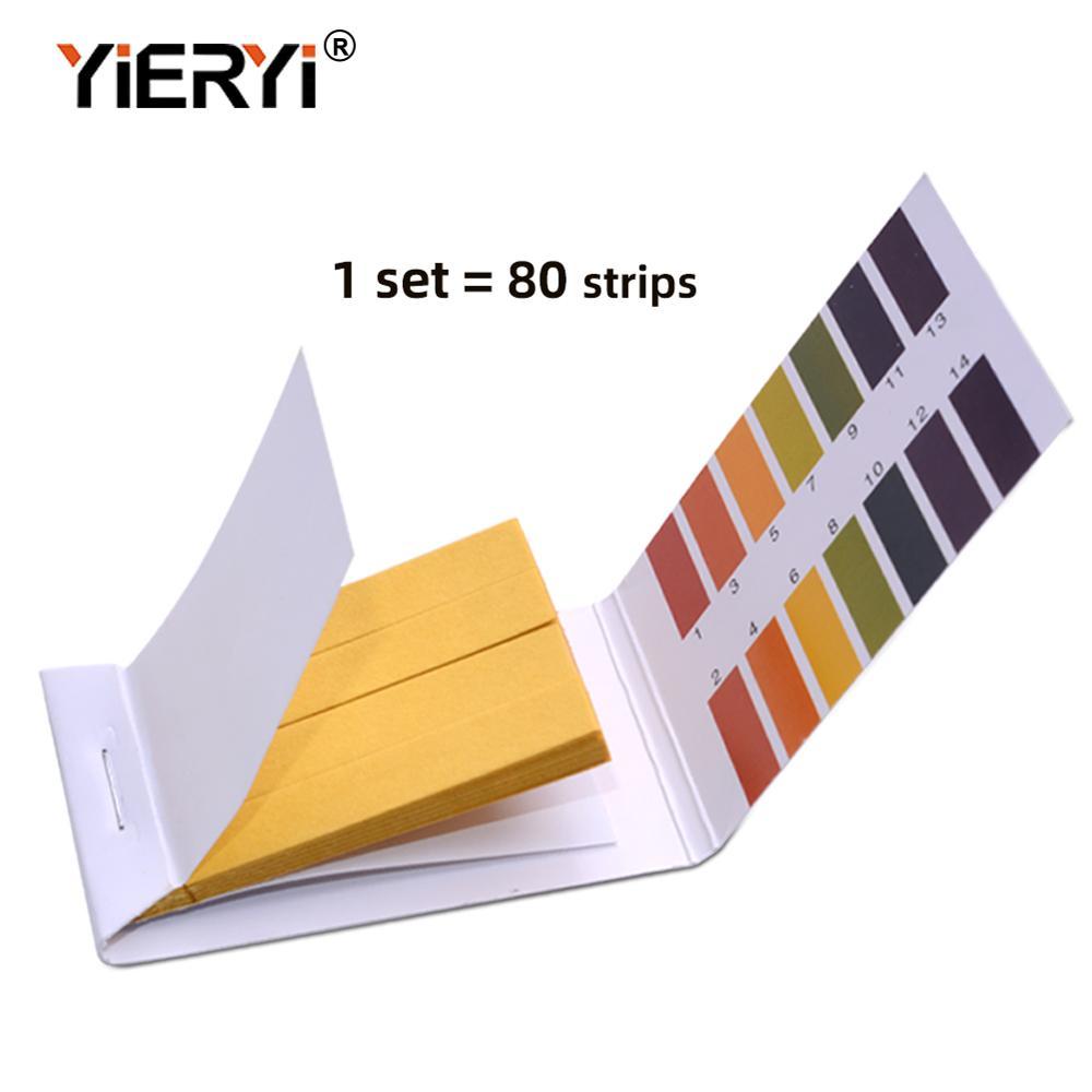 Yieryi 20 juego de tiras de prueba de pH, 80 tiras, medidor de PH completo, controlador de PH 1-14St, Kit de Soilsting de papel tornasol