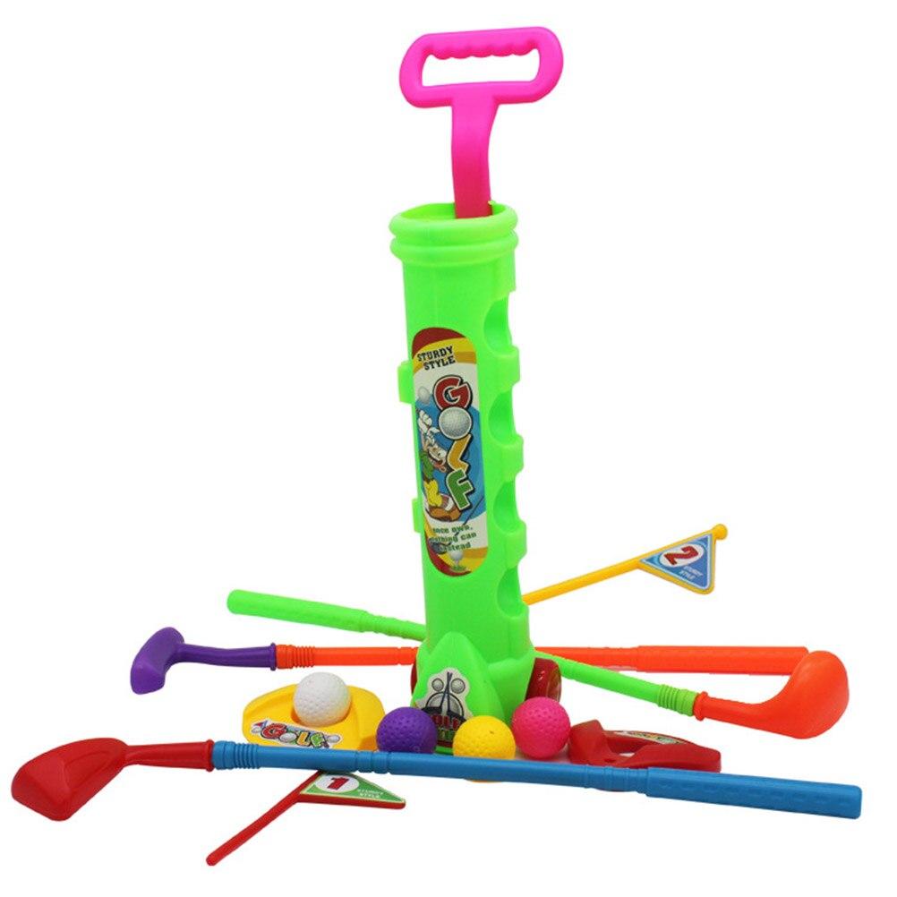 1 Set Professionelle Kinder Kinder Outdoor Sport Spiele Spielzeug Multicolor Kunststoff Mini Golf Club Set Kit Eltern-kind Spielzeug