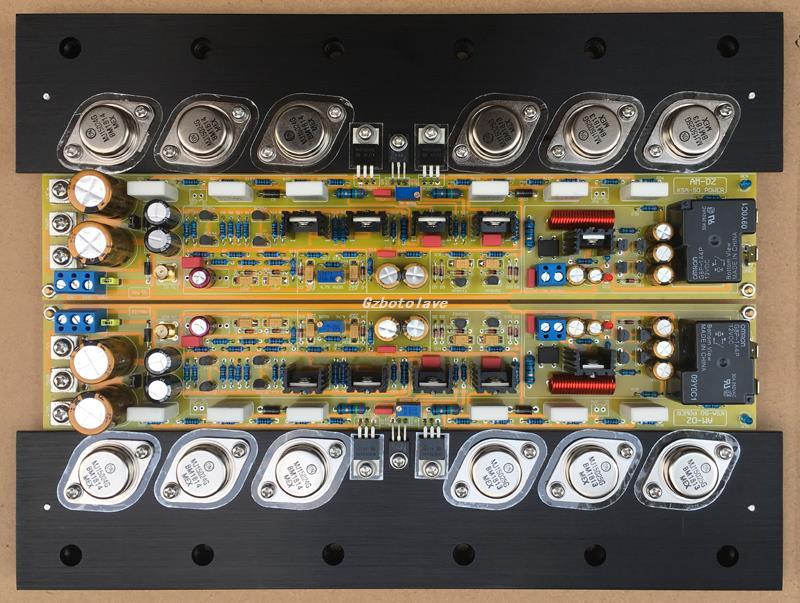 Un par de placa amplificadora Clase A pura con base del disipador de calor KRELL KSA50 50W + 50W MJ15024/15025 o en MJL4281/MJL4302