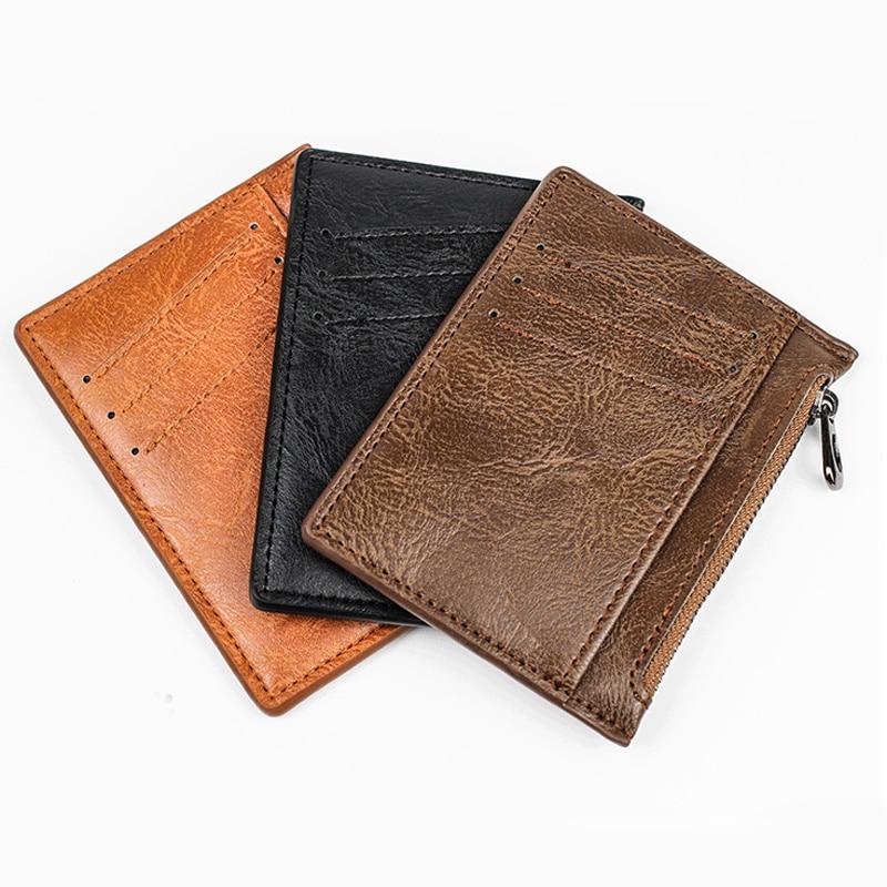 Slim Blocking Leather Wallet Credit ID Card Holder Purse Money Case For Men Women 2021 Fashion Bag 11.8×8.5x1cm Gift Wallet