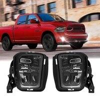 led fog lights bumper driving fog lamp assembly for dodge ram 1500 2013 2018 68104821ac car accessories
