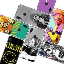 Nirvana, Kurt Cobain, caso negro para Xiaomi Redmi nota T 8 S 8 8A 7 7A 6 6A K20 K30 Pro S2 Mi 10 CC 9 8 Lite teléfono Coque cubierta