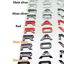 ABS cromado Car Styling tronco Logo letras emblema insignia pegatina cubierta para Range Rover Sport Evoque