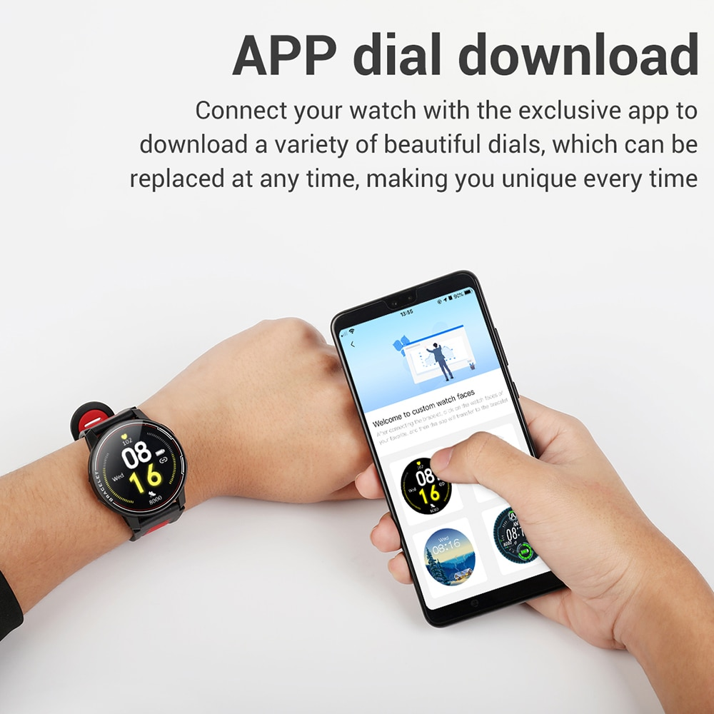 Новинка 2020, умные часы L6, IP68, водонепроницаемые, спортивные, для мужчин и женщин, Bluetooth, умные часы, фитнес-трекер, пульсометр для Android IOS-4
