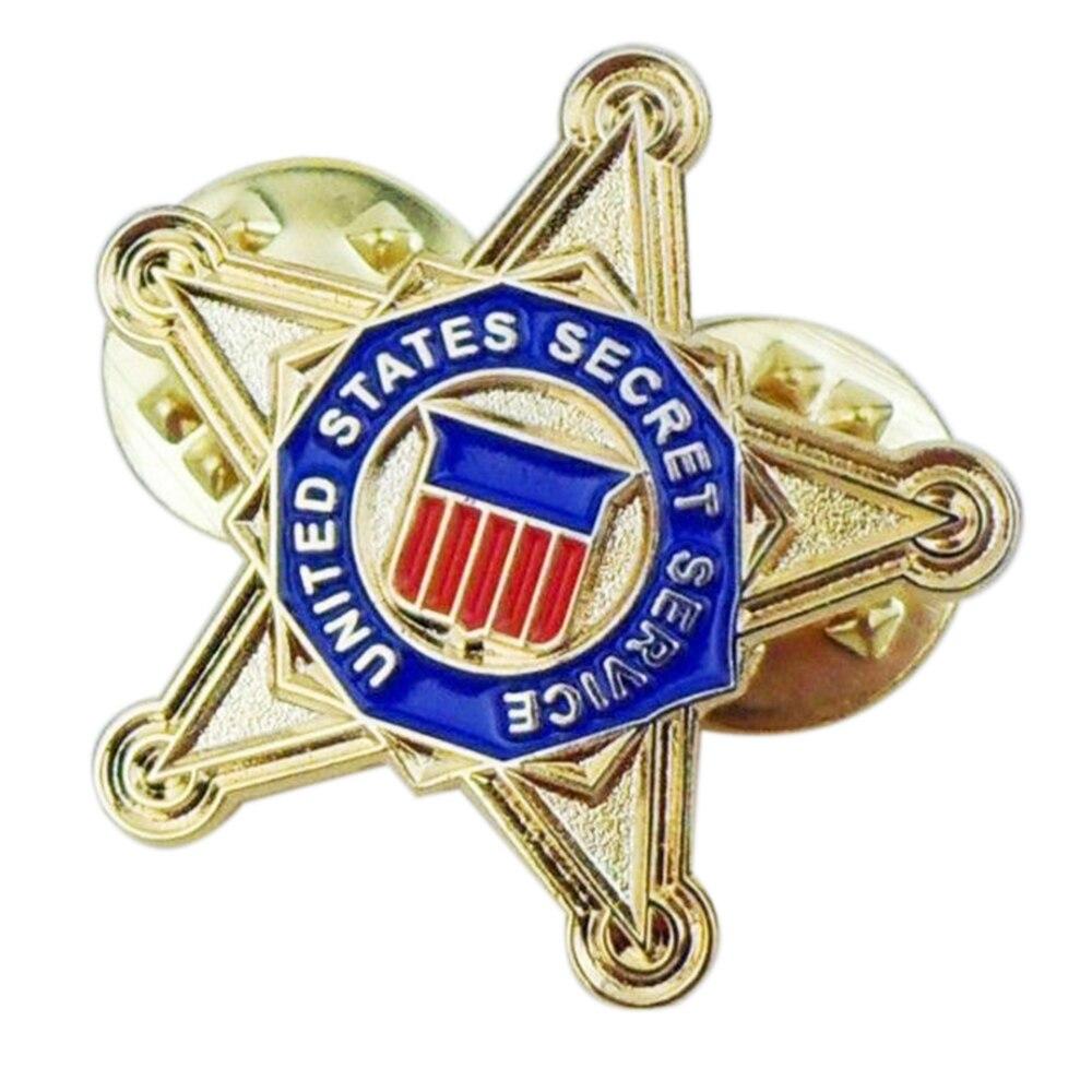 Broche de Pin de solapa de camisa con insignia de Pin de pecho de estrella del Servicio Secreto de EE. UU.