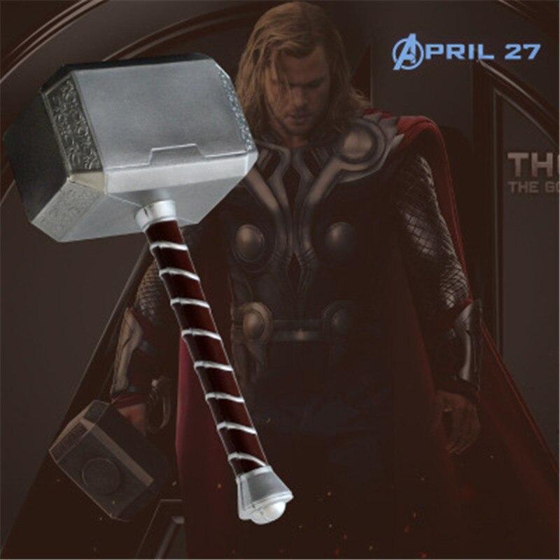 Купить с кэшбэком Cosplay T's Hammer 1:1  Hammer  Prop Weapon Model  Movie Role Playing Safety 44CM PU Material Halloween Gift Prop