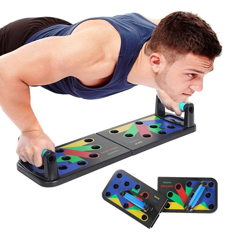 Tablero de cremallera Push-up con banda de resistencia herramienta para ejercicio de fitness soporte push-up portátil tabla de soporte entrenador muscular abdominal