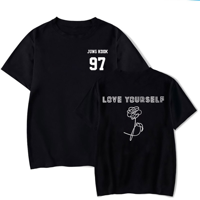 2019 Rap Monster Джин SUGA J-HOPE JIMIN V Юнга Кук футболка LOVE YOURSELF слеза портрет комиксов футболка с узором в стиле граффити Кей-поп Харадзюку, с мультяшным принтом