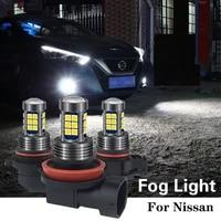 1pcs h8 h11 hb4 9006 h16 led light bulb for nissan qashqai j11 j10 juke x trail t32 t31 primera p12 navara d40 note leaf tiida