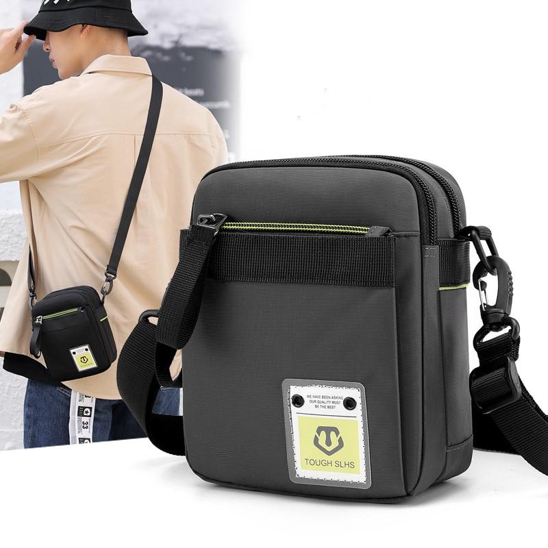 New Trendy Men's Shoulder Bag Multi-Functional Outdoor Crossbody Bag Sports Carry Bag Tactical Waist Pack Mobile Phone Bag