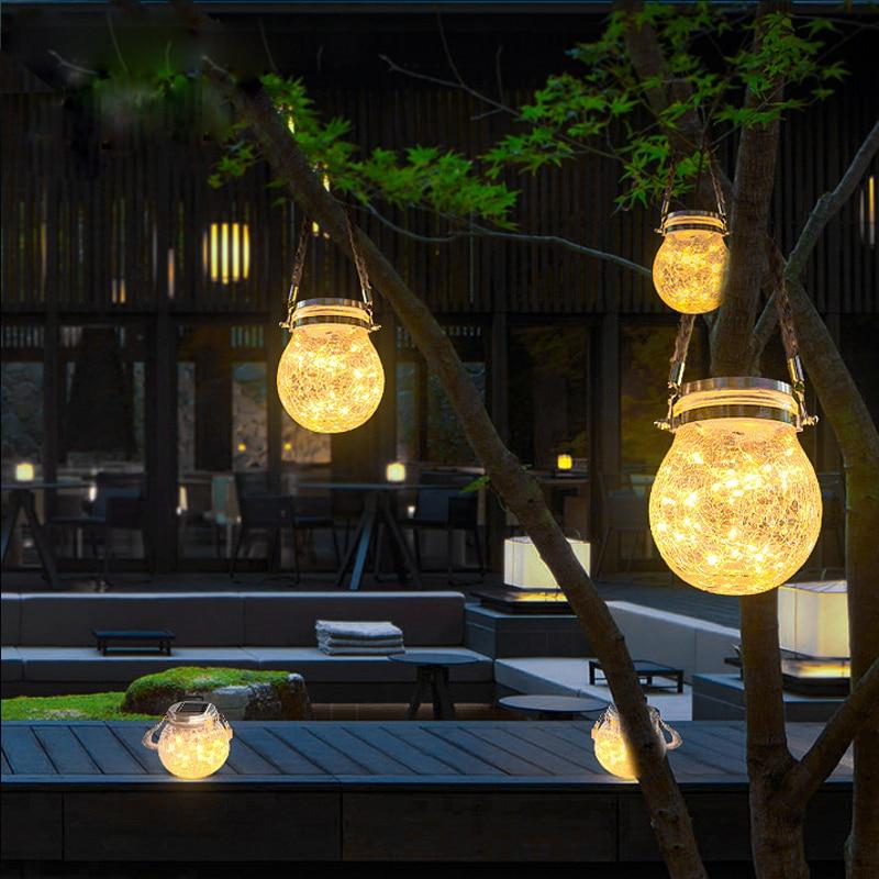 مصباح شمسي LED خارجي ، إضاءة المناظر الطبيعية الزجاجية ، مصباح الجدار المعلق ، مقاوم للمطر ، إضاءة زخرفية خارجية ، مثالي للحديقة.