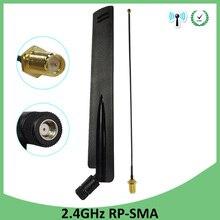 Antenne WiFi 2.4GHz 8dBi antenne RP-SMA connecteur mâle antenne 2.4 ghz routeur wi-fi + 21cm PCI U. FL IPX vers SMA câble queue de cochon mâle