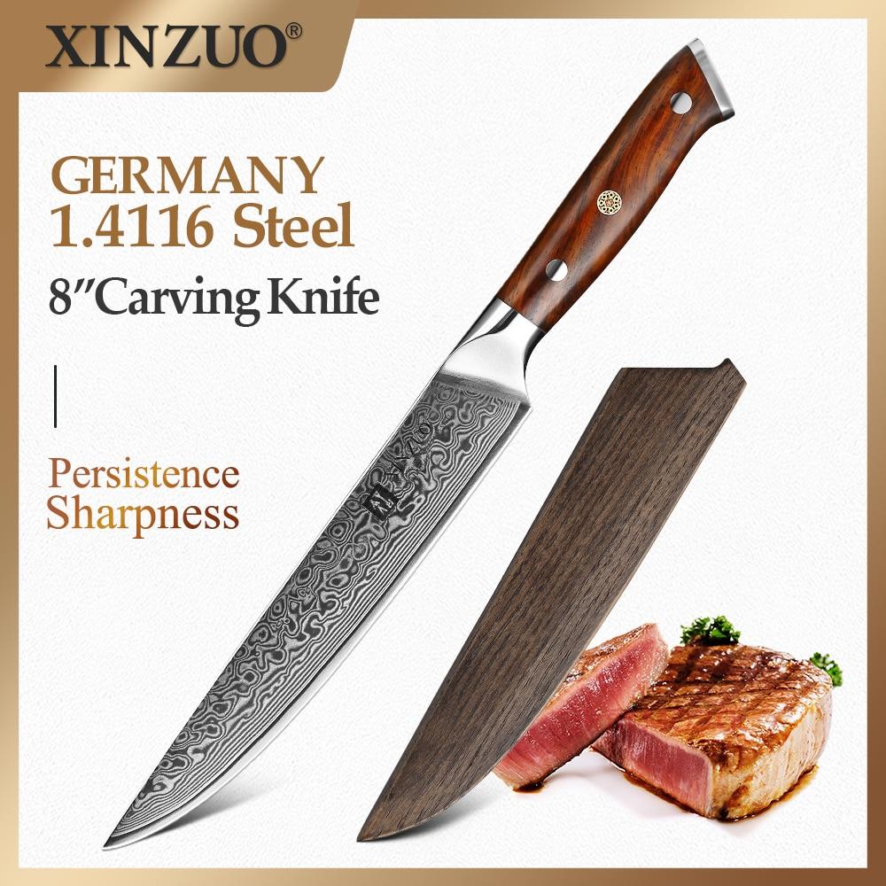 سكاكين سقاطة من XINZUO مقاس 8 بوصة vg10 سكاكين مطبخ من الفولاذ المقاوم للصدأ شفرة حادة تقطيع سكاكين الشيف مع حافظة هدايا