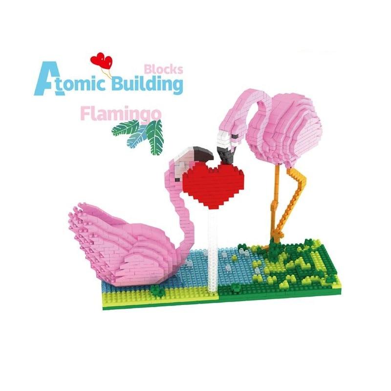 Мини-кубики PZX, милая Строительная игрушка фламинго, модель животных, аукцион, фигурки, микро-кирпичи, игрушка для детей, подарок на день Свят...