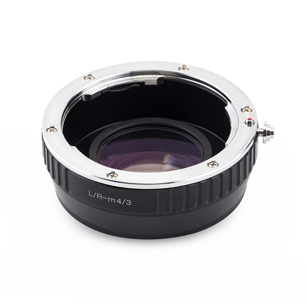 Pixco DE VELOCIDAD DE Reductor Focal adaptador de lente compatible para Leica R lente Micro cuatro tercios 4/3 Cámara